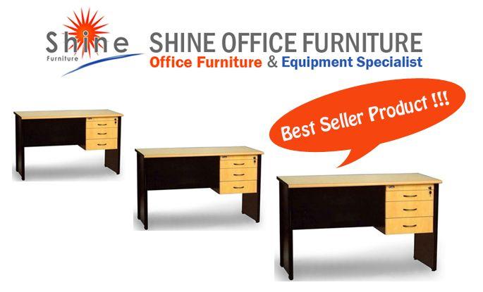 Meja Kantor Uno Extra. Meja lapis melamine dilengkapi lacinya. Hub SHINE FURNITURE 021-55958120