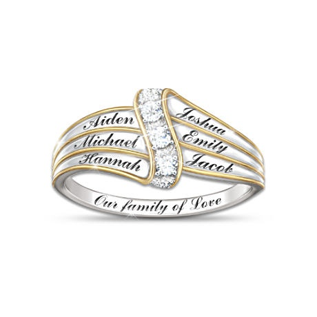 our family of personalized ring mothers