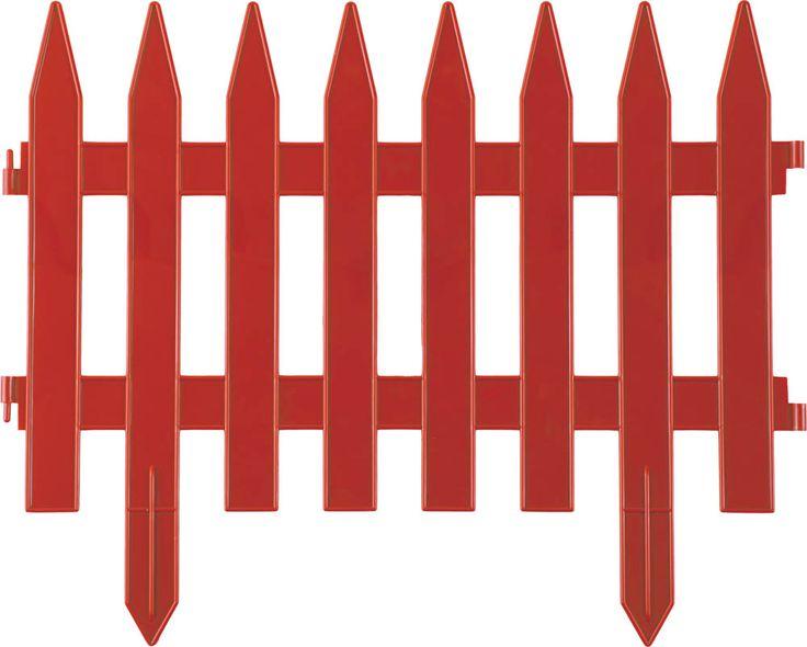 "Забор декоративный GRINDA ""КЛАССИКА"", 28x300см, терракот"