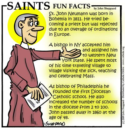Fun facts about St. John Neumann. At St. James the Less Church in Baltimore, future bishop John Neumann became the first Redemptorist to take the vows of a priest in the U.S. in 1842. #ArchBalt225