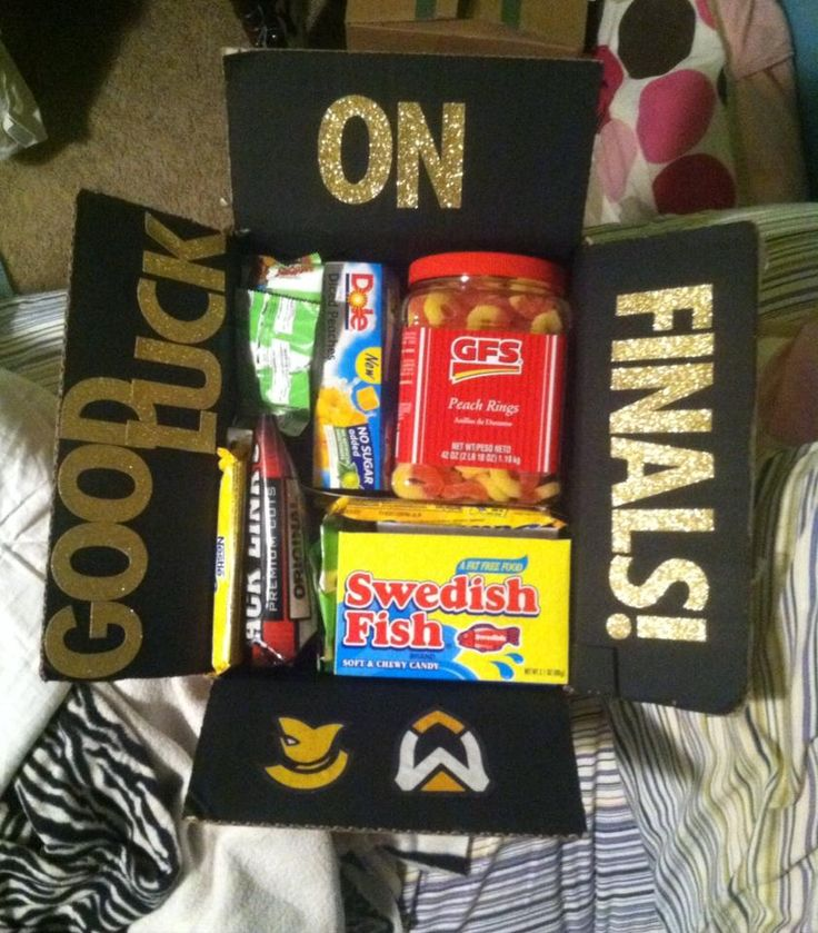 Care package for college finals