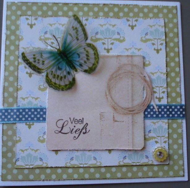 kaarten maken van papier, lint etc