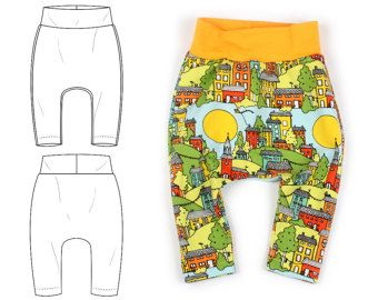 Harem pants pattern baby and toddler cuff by brindilleandtwig
