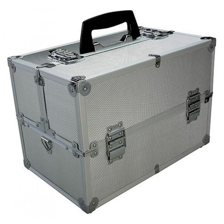 Professional Large Aluminum Make Up Artist Cosmetic Train Case