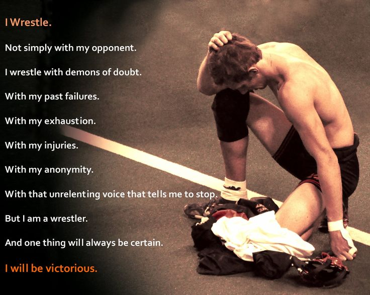 I lucked out and got this cool pic of my son at the state wrestling tournament after a loss.  Found the cool quote and there ya go!