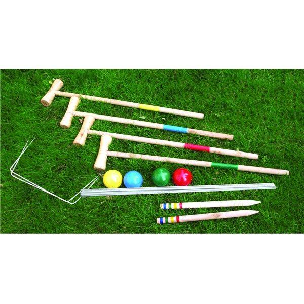 Croquet for the Kids...keep'em entertained for hours outdoors with this gorgeous old fashioned croquet set!