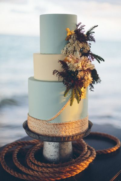 seaside-inspired wedding cake                                                                                                                                                                                 More