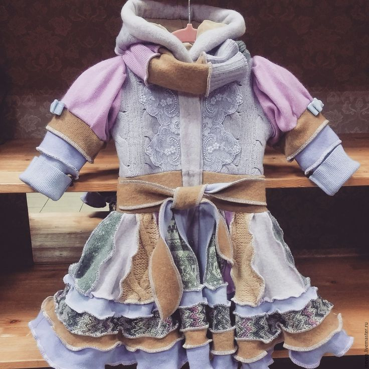 Лоскутное пальто для малышек - комбинированный, орнамент, лоскутное пальто, детская одежда, пальто для девочки