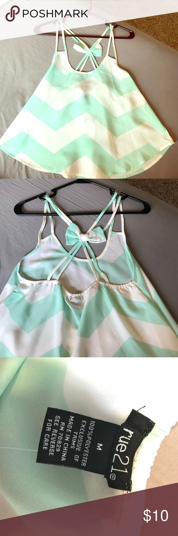 Rue 21 tank top This top would look perfect with just about any summer outfit. It is very light and float, perfect for those hot summer days. Never worn! Rue21 Tops Tank Tops