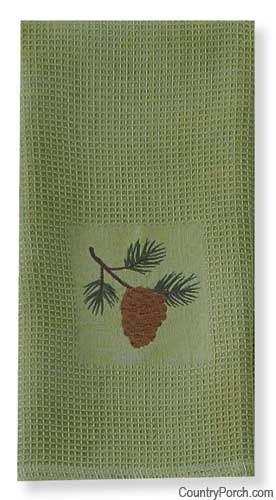 The Country Porch Features The Pine Lodge Embroidery Dishtowel From Park  Designs.
