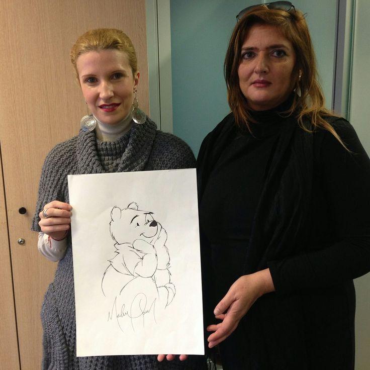 Io e Micky con uno dei disegni creati da Michael Jackson