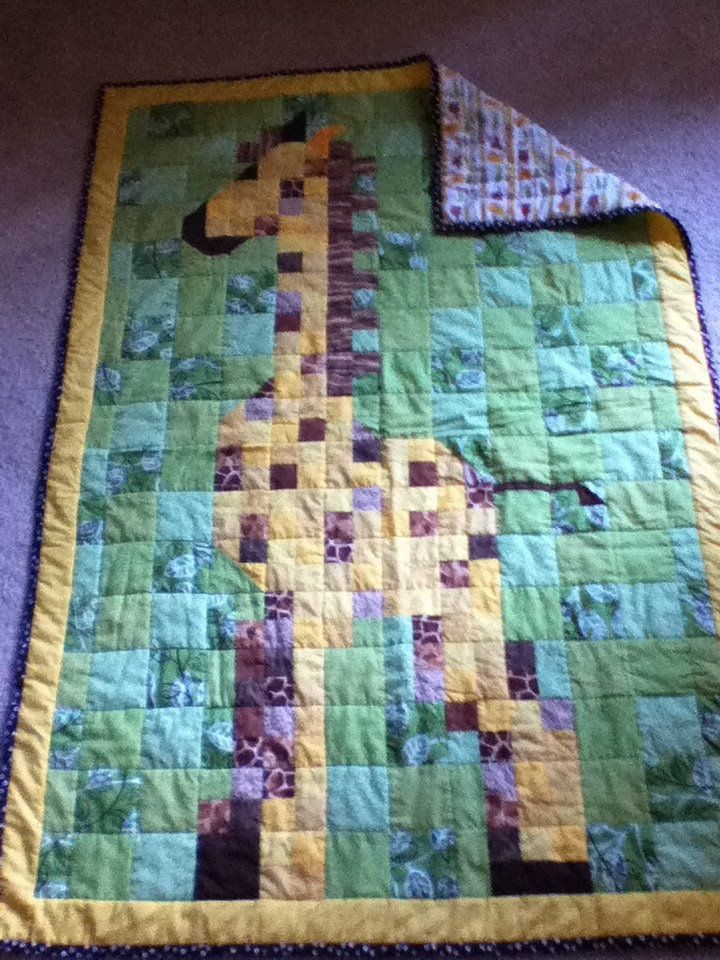 The Giraffe Quilt I just finished!! I am so in love with it!!