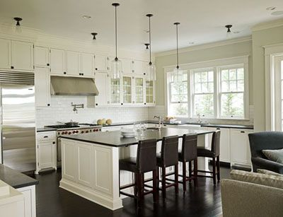 Love the floor to ceiling cabinets and the windows above for Kitchen cabinets 50 off