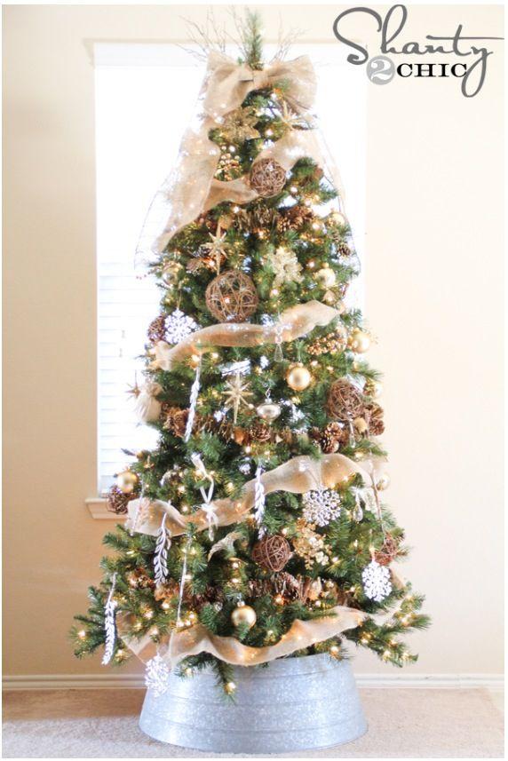 Rustic Christmas tress