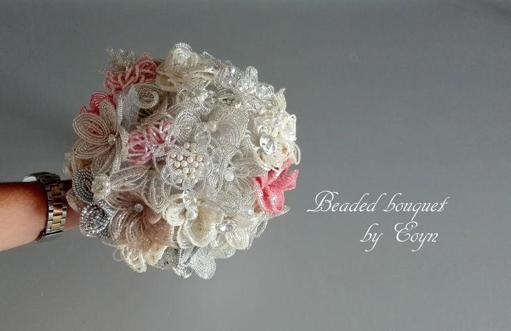 Bouquet da sposa avorio spilla prezzo di BroochbouquetsEoyn