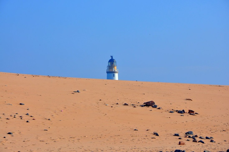 Rattray Lighthouse and beach. Rattray, Aberdeenshire.