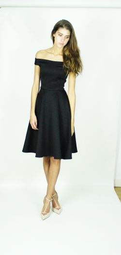Kirsty Doyle/Sabrina Scuba Jersey fit and flare dress #aw13