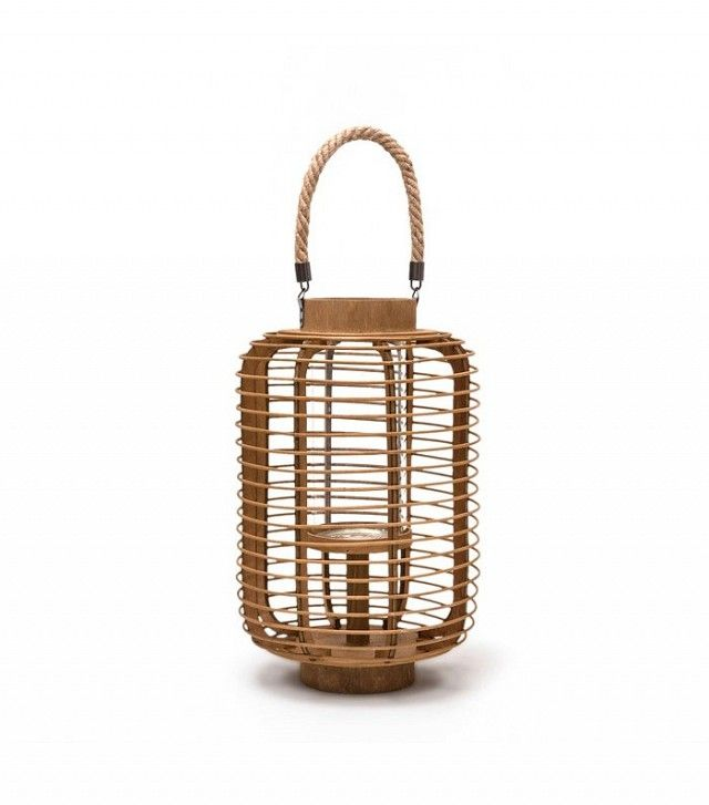 Zara Home Wood and Rope Lantern