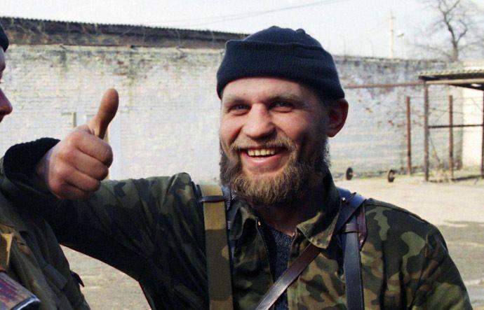 Oleksandr Muzychko, Ukrainian nazi leader, AKA Shasha Biliy when he fought in Chechnya in the muslim side.