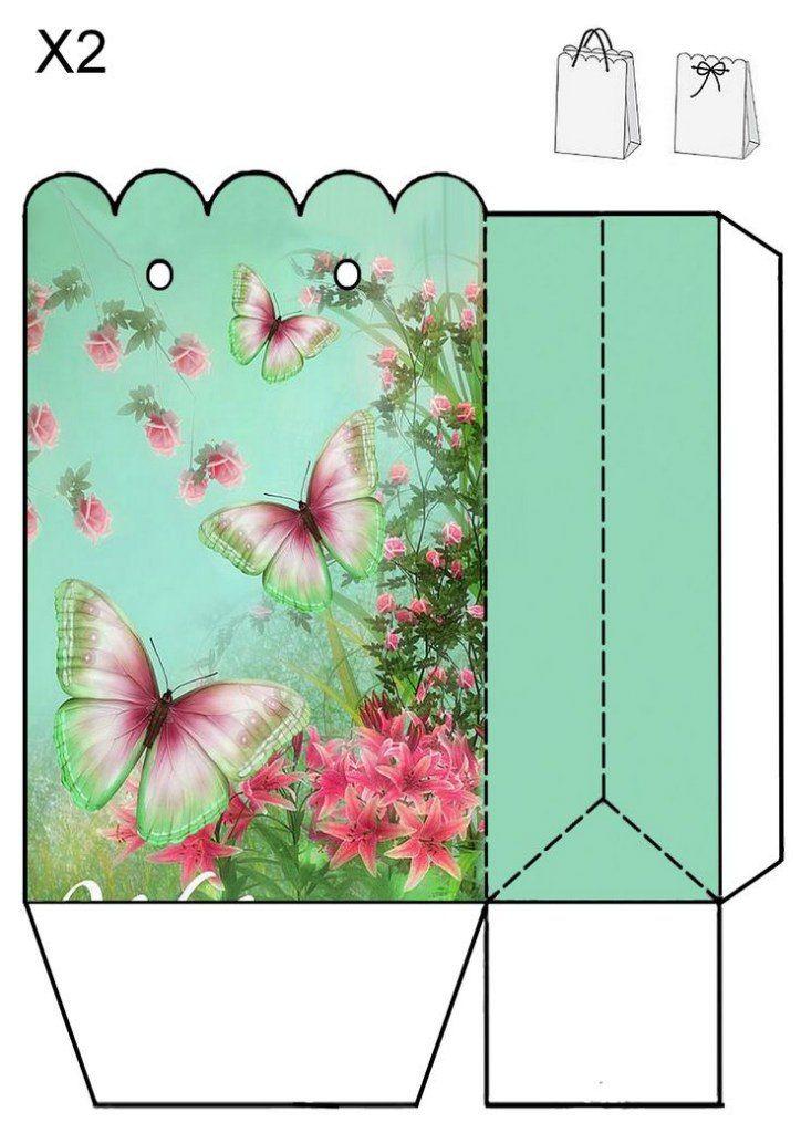 Упаковка для открытки шаблоны, голубями