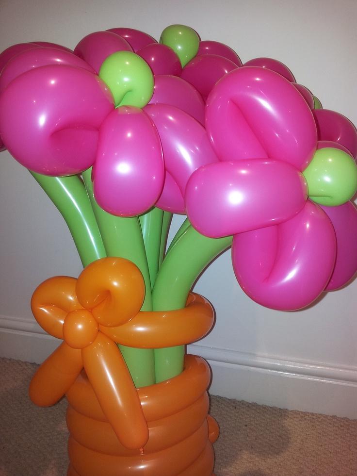 Vase of balloon flowers baby shower pinterest