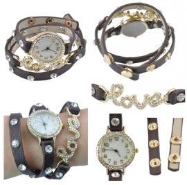 Horloge Love Bruin