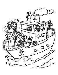 sint op de boot