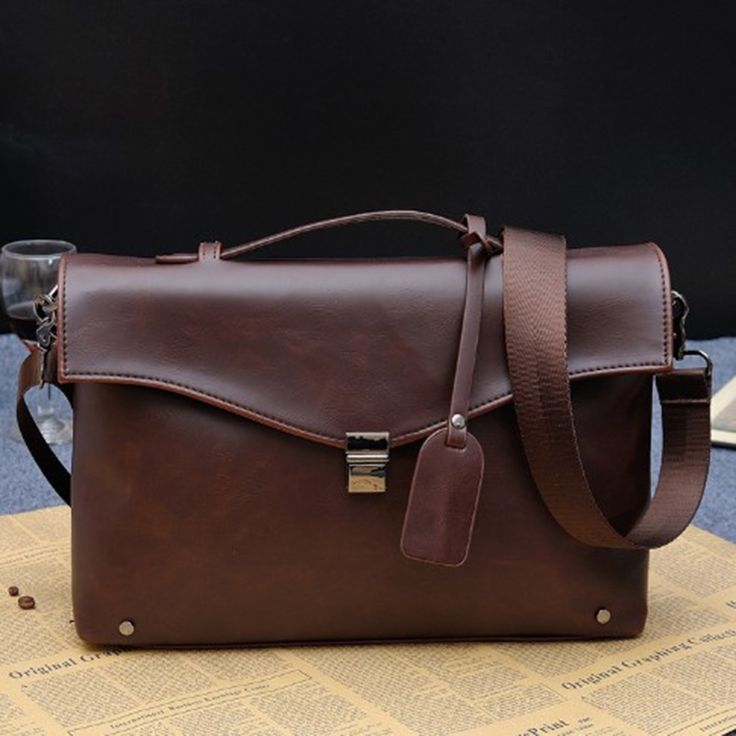 27.10$  Watch here - http://alitbi.shopchina.info/1/go.php?t=32765514181 - 2017 Crazy Horse PU Leather Crossbody Bags Korean Brown Business Bag Male Briefcases Portfolio Office Bag Handbag Men Brief Case  #aliexpresschina