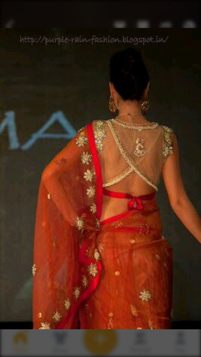 Really surprising design...  Can suit any net Saree!!!