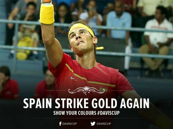 Rio 2016 Olympic gold medallists Rafa Nadal & Marc Lopez ensured Spain of their 2017 #DavisCup World Group place with a 3-0 win after beating India's Leander Paes and Saketh Myneni 46 76(2) 64 64