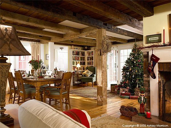 Jackie Ennis & David Rocchio's New England farmhouse near Stowe in Vermont…