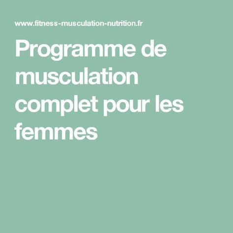 Programme de musculation complet pour les femmes