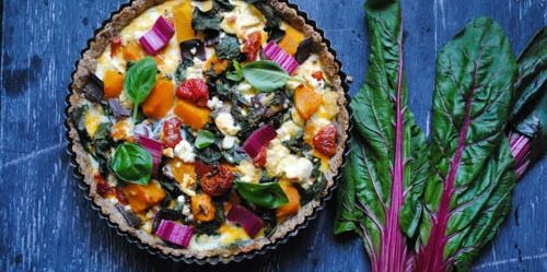 This Rainbow Pie is filled with a rainbow of veggies, good fats and protein- the perfect I Quit Sugar meal. This recipe has been provided by Georgia McDermott.