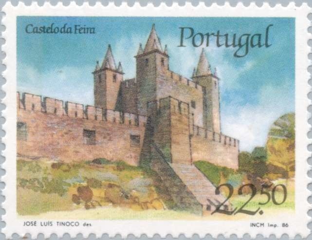 Sello: Castle of Fair (Portugal) (Castles and Coat of arms of Portugal (1st group)) Mi:PT 1680,Sn:PT 1664,Afi:PT 1750
