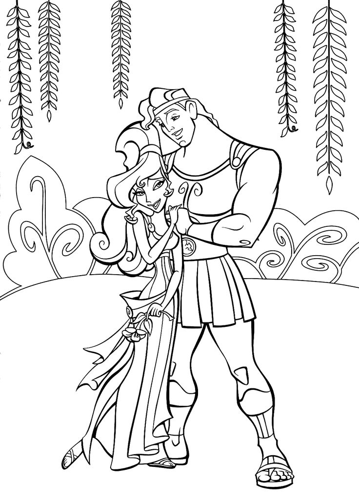 hercules coloring pages for kids printable free
