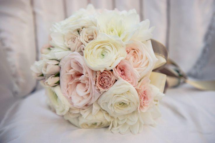 roz braz pudrowe bukiet slubny