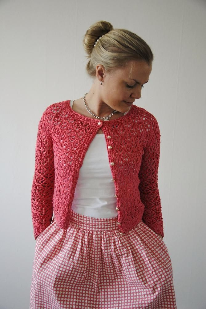 Surry Hills cardigan by Maria Magnusson is knitted in DK (8-ply) yarn in a cu...