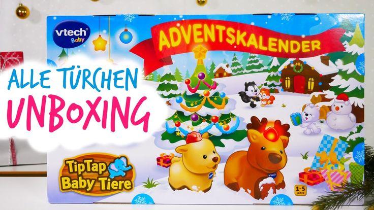 VTech TipTap Babytiere Adventskalender 2016 Unboxing - alle 24 Türchen