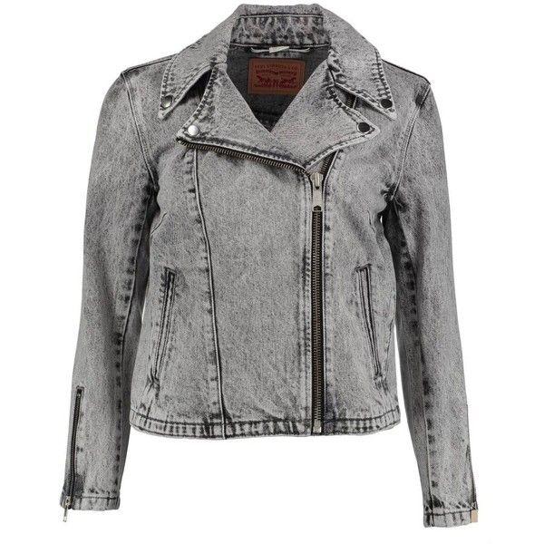 Veste Updated Levi's Noir Delave LEVI'S (19 CAD) ❤ liked on Polyvore featuring outerwear, vests, levi vest, vest waistcoat, zipper vest and zip vest