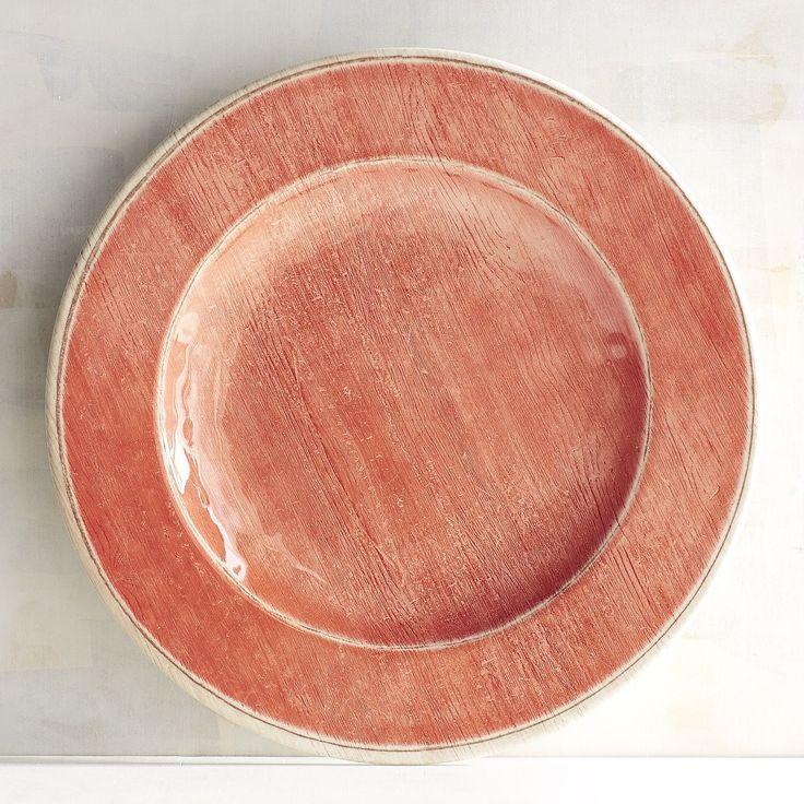 Newport Coral Melamine Salad Plate Orange