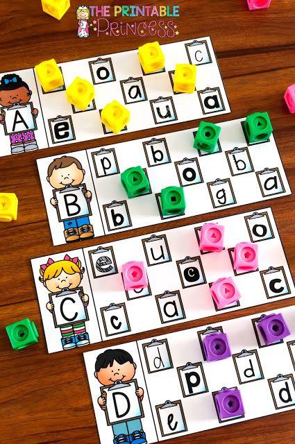 Alphabet Activities for Kindergarten - Letters, Mazes,