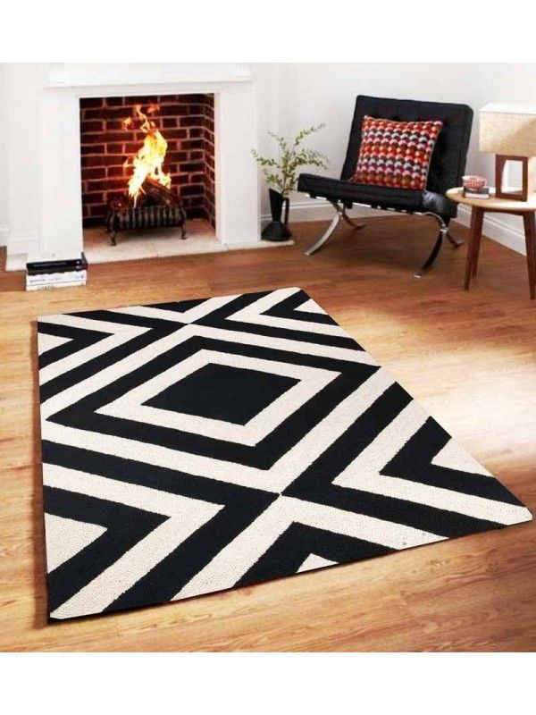 Sofiabrands Geometrical Black White Hand Tufted Rugs