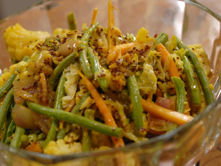 Marinated Vegetable Salad from Laura Calder. The French Africa episode. Great combination of spices.