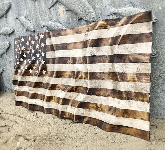 Hand Carved Rippling Waving American Flag Hand Carved Wood Made To Order From Eco Art Wood Design On Ets American Flag Wood Wood Flag Carved Wood Wall Hanging