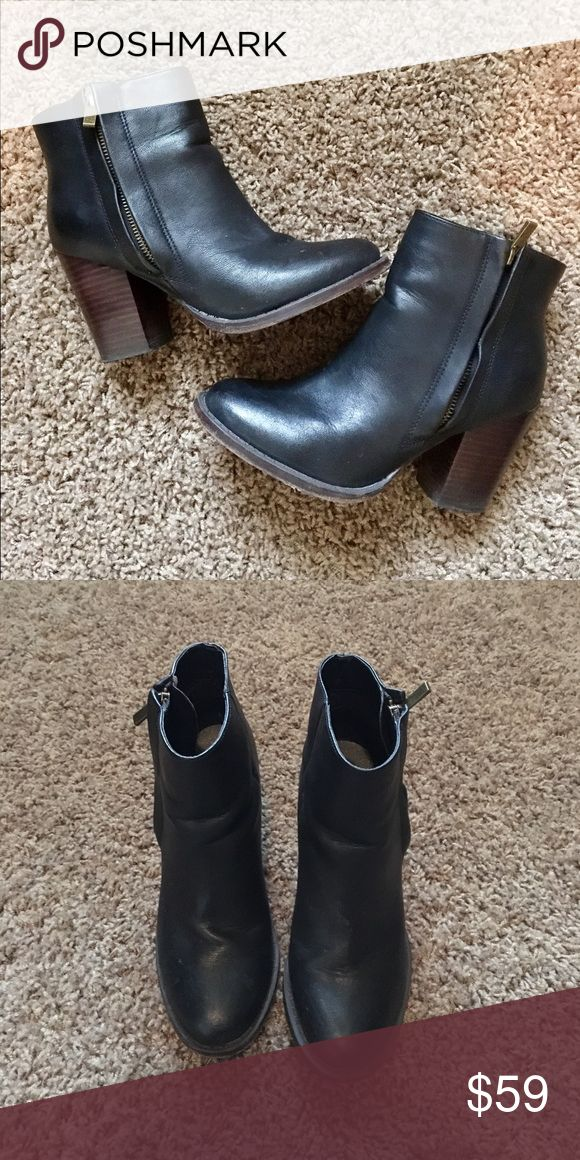 Urban Outfitter's ankle booties I absolutely adore these black booties - casual enough to wear with jeans but the small heel adds an extra flare for dressier outfits. I bought these from Urban Outfitters, 100% vegan leather Urban Outfitters Shoes Ankle Boots & Booties