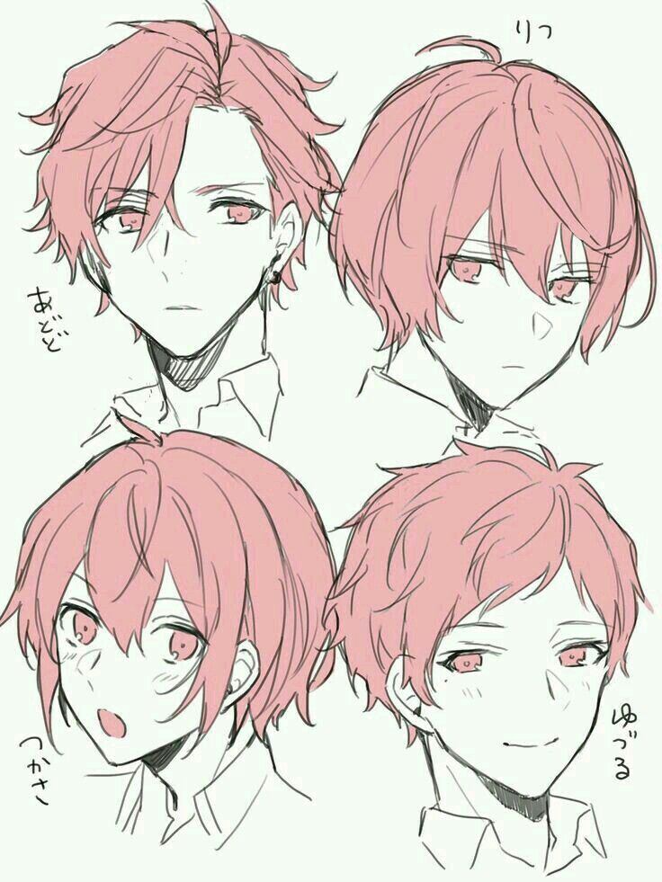 Its like the types of hairstyles anime character design