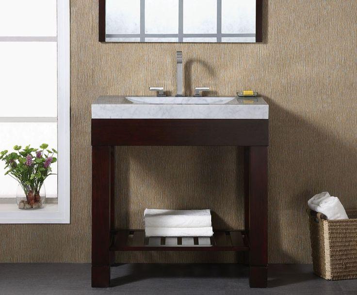 Website Picture Gallery Xylem Europa Dark Walnut Modern Bathroom Vanity