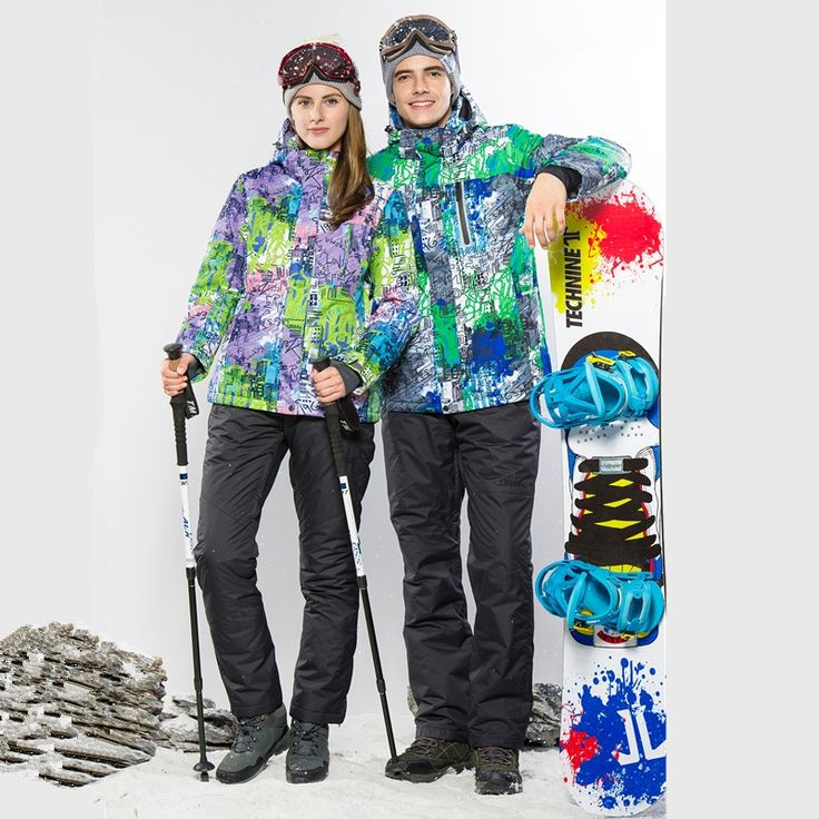 127.12$  Watch now - http://alitfr.worldwells.pw/go.php?t=32740101983 - 2016 Lover Snowboard Jacket Colorful Snowboard Jackets Suits Couples Cheap Ski Suit Thick Cotton Padded Waterproof WInter Coat