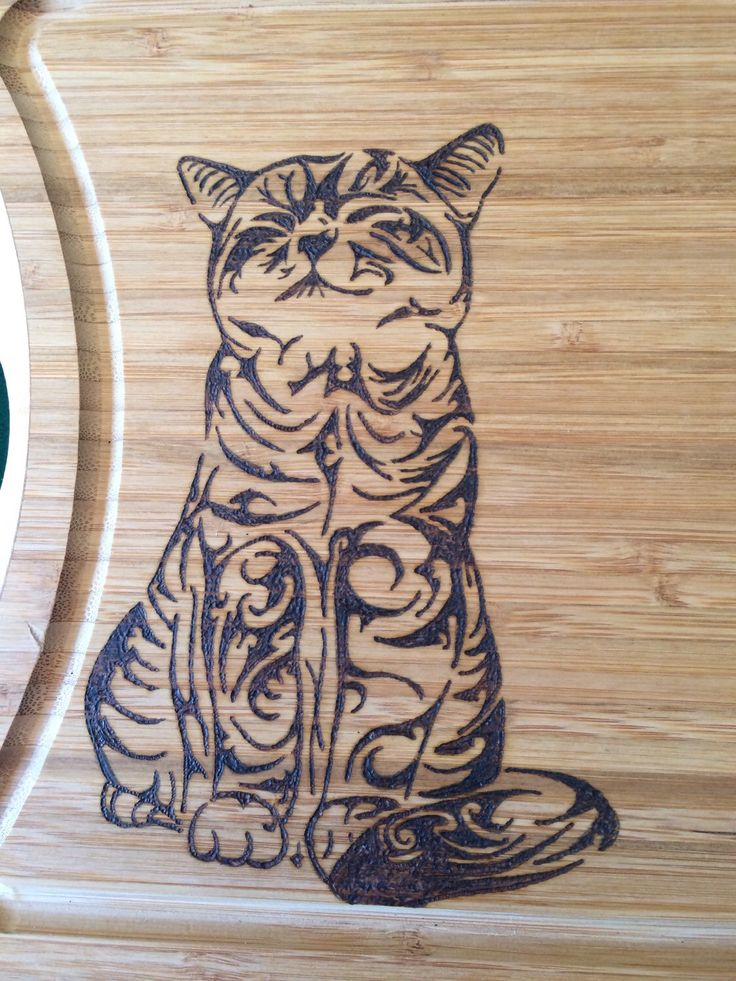 A personal favorite from my Etsy shop https://www.etsy.com/listing/242578346/cutting-board-wood-burned-with-a-cat