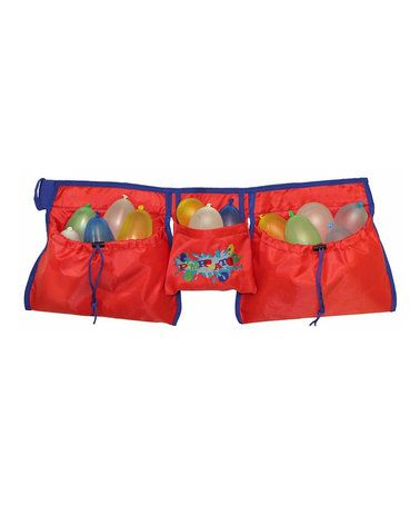Look what I found on #zulily! Red Water Balloon Battle Belt #zulilyfinds